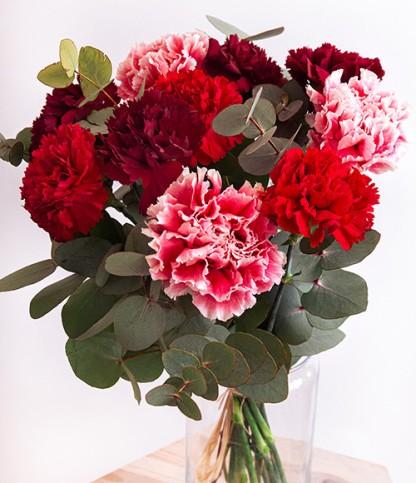 Brassée d'oeillets rouges - Le Bouquet de Fleurs